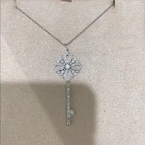 Tiffany key diamond necklace